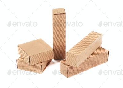 Small corrugated boxes.