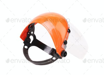 Plastic protective face shield.