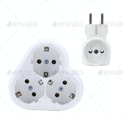 Contact socket splitter for three plugs.