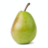 Fresh Juicy Pear Isolated Over White Background