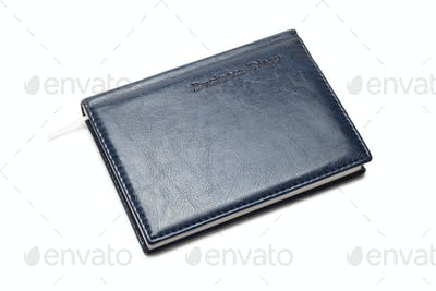 Business Diary Isolated Over White Background