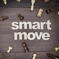 Smart Move Concept On Wooden Background