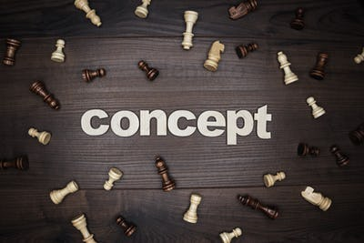 Word Concept On Wooden Background