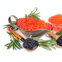 Caviar with rosemary