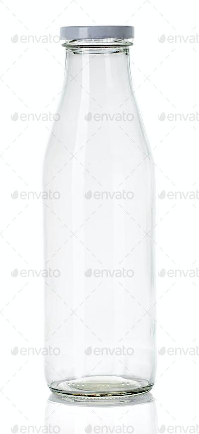 empty milk bottle