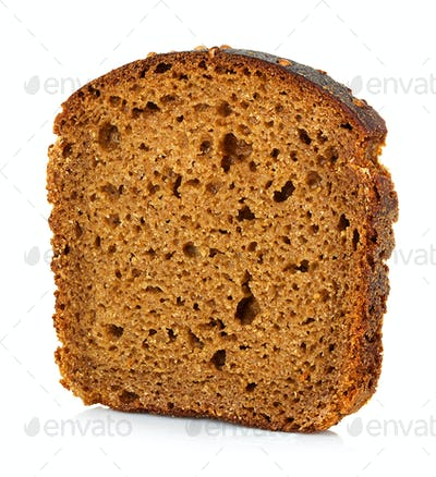 Brown bread slice isolated