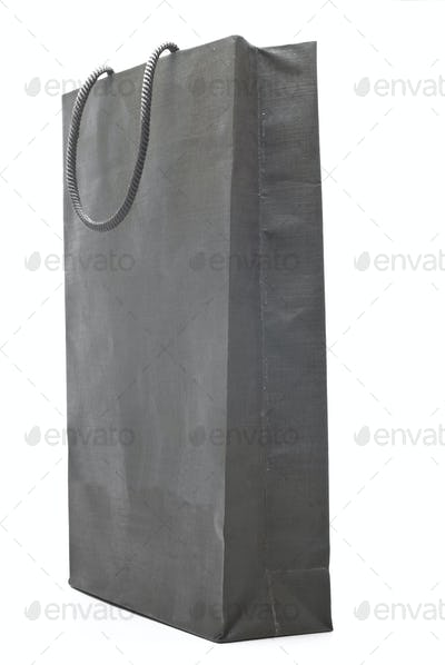 grey shopping bag isolated on white background
