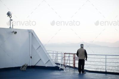 people back looking sea landscape