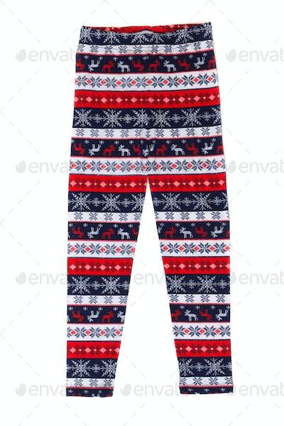 Women's pants (pajamas) with deer pattern.