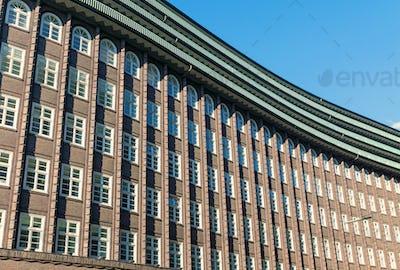Historic building facade in Hamburg