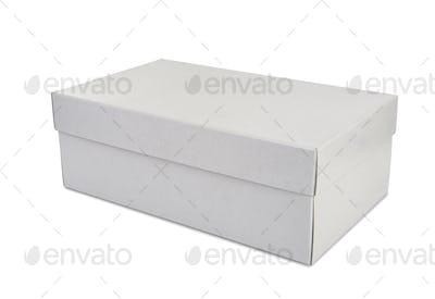 White shoe box isolated on white