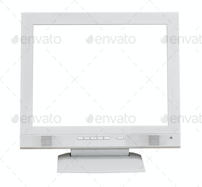 front view grey display with cutout screen