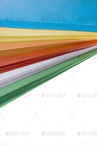 Different color paper