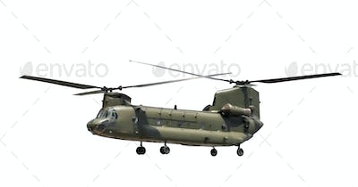 isolated military helicopter