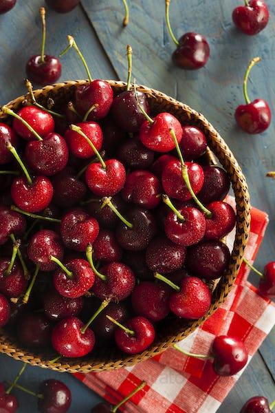 Raw Organic Red Cherries