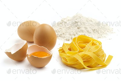 tagliatelle eggs and flour
