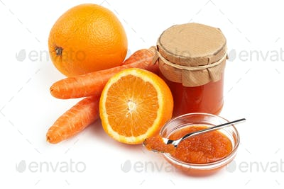 orange and carrot jam