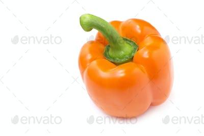 close up of an orange pepper