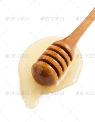 honey and stick on white