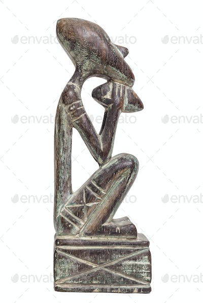 Traditional statuette from Indonesia, isolated on white