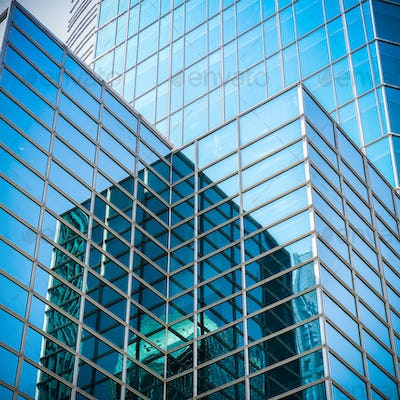 glass skyscraper with abstract texture