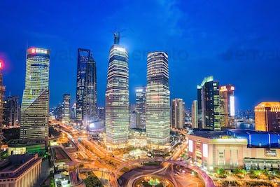 shanghai midtown at night