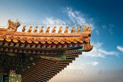the eaves of forbidden city