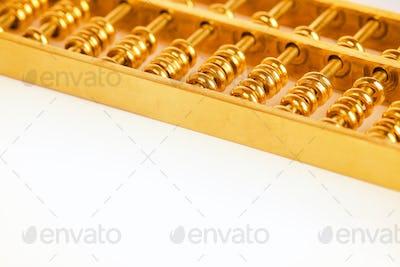gold abacus closeup