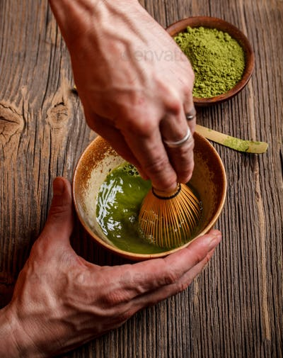 Beating matcha