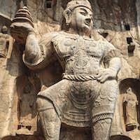 heavenly kings buddha statue closeup