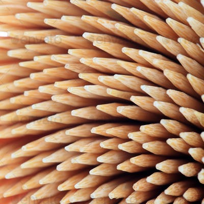 close up of the toothpicks