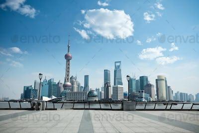 daytime scene of shanghai