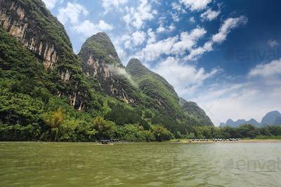 beautiful lijiang river scenery in guilin