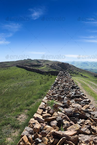 great wall ruins in inner mongolia
