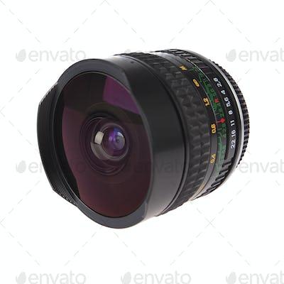 a fisheye lens