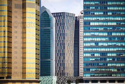 modern financial office buildings