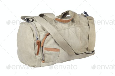 canvas travel bag isolated