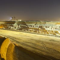 Pit Mine Wall At Night