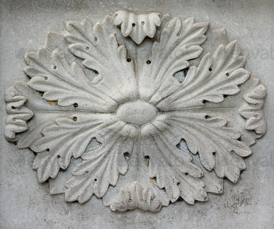 The Ottoman ornament on stone