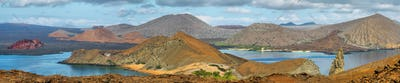 Panoramic view of pinnacle Rock and surroundings in Bartolome