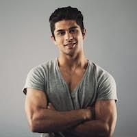 Handsome young hispanic model