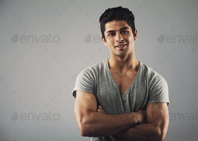 Handsome young hispanic model