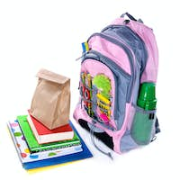 Book bag and lunch