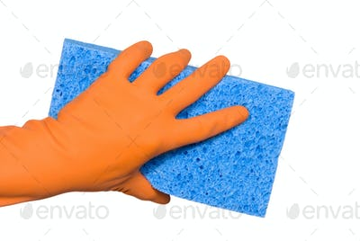 Washing glove and sponge