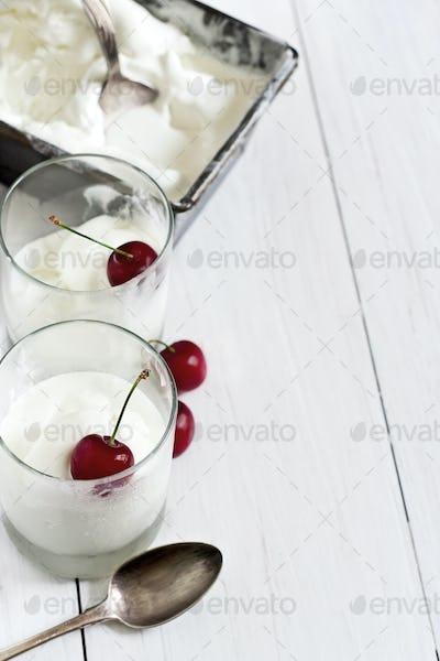 Homemade ice cream background