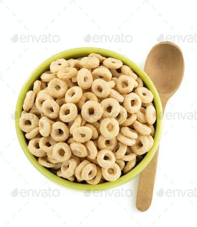 corn flakes rings in bowl