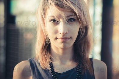 young beautiful model woman