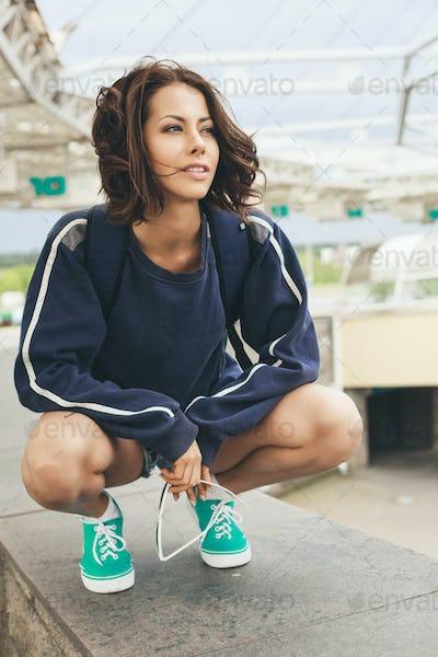 hipster teenage girl