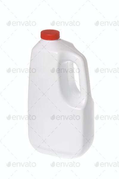 White chemical solution bottle