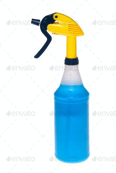 Spray bottle of cleaner